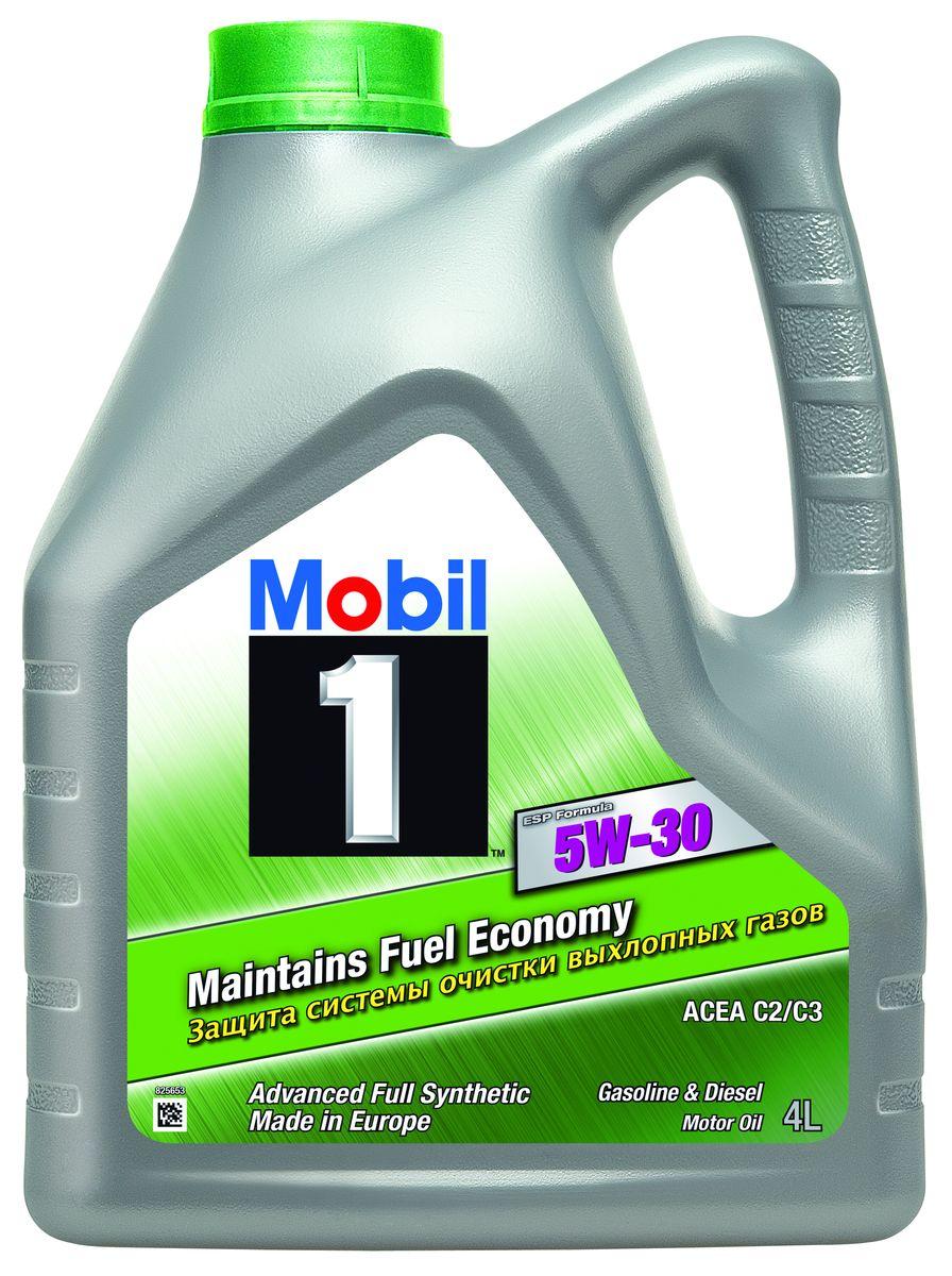 Масло моторное Mobil 1 ESP Formula, синтетическое, класс вязкости 5W-30, 4 л152621Mobil 1 ESP Formula - высокоэффективное полностью синтетическое моторное масло.Обеспечивает улучшенную экономию топлива и низкий расход масла на угар, продлевает срокслужбы и поддерживает эффективность систем снижения токсичности выхлопных газовбензиновых и дизельных автомобилей. Превосходит требования ведущих производителейавтомобильной индустрии. Особенности:- Содержит активные очищающие вещества;- Снижает образование отложений и шлама;- Увеличивает интервалы замены масла;- Низкий расход масла на угар;- Отличные свойства работы при низких температурах. Сертификации и одобрения: - ACEA C2, C3. - JASO DL-1. - BMW Longlife 4. - MB-Approval 229.31 / 229.51. - Porsche C30. - Chrysler MS-11106. - Peugeot Citroen Automobiles B71 2290 / B71 2297. - GM Dexos2. - VW 502 00 / 503 00 / 503 01 / 505 00 / 506 00 / 506 01 / 504 00 / 507 00.Товар сертифицирован. Уважаемые клиенты! Обращаем ваше внимание на возможные изменения в дизайне упаковки. Качественныехарактеристики товара остаются неизменными. Поставка осуществляется в зависимости отналичия на складе.
