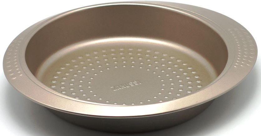 Форма для выпечки Zanussi Turin, диаметр 26 см, цвет: бронзовый. ZAC11112CFZAC11112CFКоллекция форм серии Turin является хорошим приобретением любой хозяйки. Товар бренда Zanussi - металлические формы - пользуется высоким спросом, его отличает высокое качество и удобный размер. Изделия выполнены из толстой углеродистой стали. Форма имеет антипригарное покрытие и утолщенные стенки, которые гарантируют равномерное пропеканиеизделия. Можно использовать в духовке до 230 градусов. Главное преимущество стальных форм - это абсолютная химическая нейтральность и экологичность.