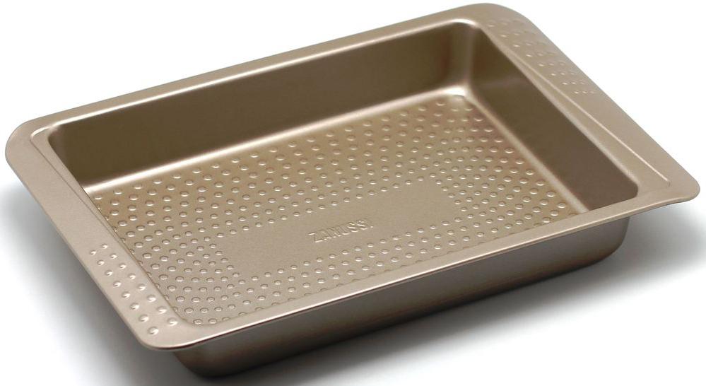 Форма для запекания Zanussi Turin, 33 х 26,6 х 5 см, цвет: бронзовый. ZAC32112CFZAC32112CFКоллекция форм серии Turin является хорошим приобретением любой хозяйки. Товар бренда Zanussi - металлические формы - пользуется высоким спросом, его отличает высокое качество и удобный размер. Изделия выполнены из толстой углеродистой стали. Форма имеет антипригарное покрытие и утолщенные стенки, которые гарантируют равномерное пропеканиеизделия. Можно использовать в духовке до 230 градусов. Главное преимущество стальных форм - это абсолютная химическая нейтральность и экологичность.