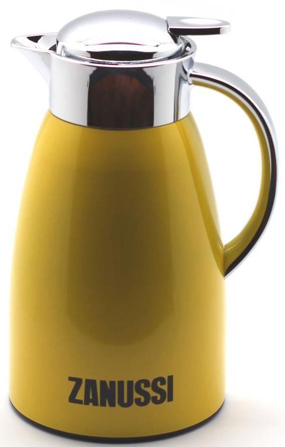 Кувшин-термос Zanussi Livorno, 1,5 л, цвет: желтый. ZVJ71142CFZVJ71142CFТермос-кувшин из нержавеющей стали со стальной колбой серии Livorno бренда Zanussi- безупречность качества и традиция стиля.Изысканный дизайн кувшина послужит дополнительным элементом сервировки стола у Вас дома и в офисе.Термос-кувшин используется для заваривания любых напитков и позволяет сохранять температуру горячего напитка до 6 часов, холодного до 8 часов.Конструкция крышки предусматривает надежный фиксатор, для использования нужно нажать на рычаг, после чего происходит открытие клапана. Не наполняйте термос выше горлышка - это позволит наиболее долго сохранить температуру и избежать ожога горячей жидкостью. Корпус покрыт глянцевым лаком для предохранения от пятен и царапин. Термос рекомендуется мыть вручную.