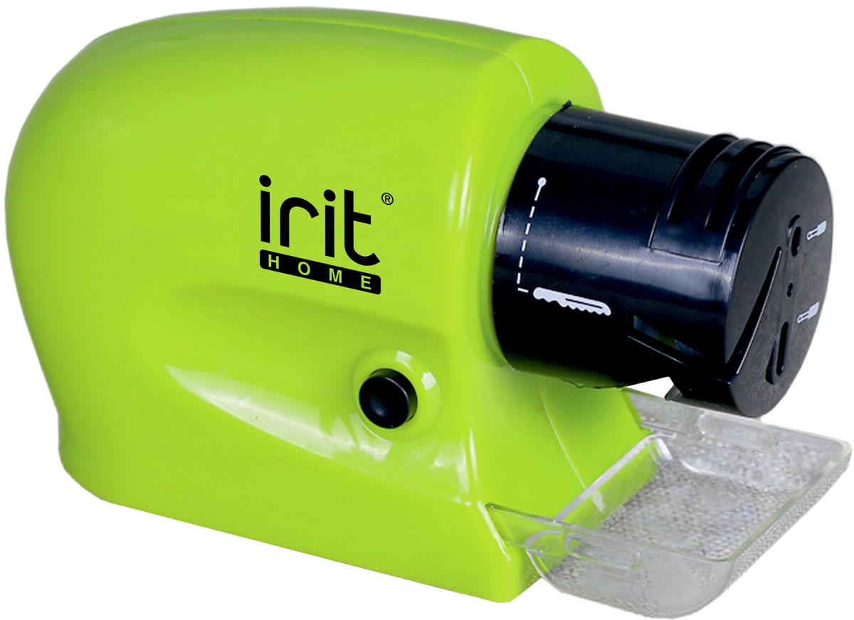 Irit IR-5831 ножеточка электрическая79 02661Ножеточка Irit IR-5831 очень удобна в использовании и не занимает много места. Модель поможет заточить лезвия ножей всего одним движением руки. Работает от 4 батареек АА.Высокая скорость вращенияТочильный каменьЗаточка и хонингование