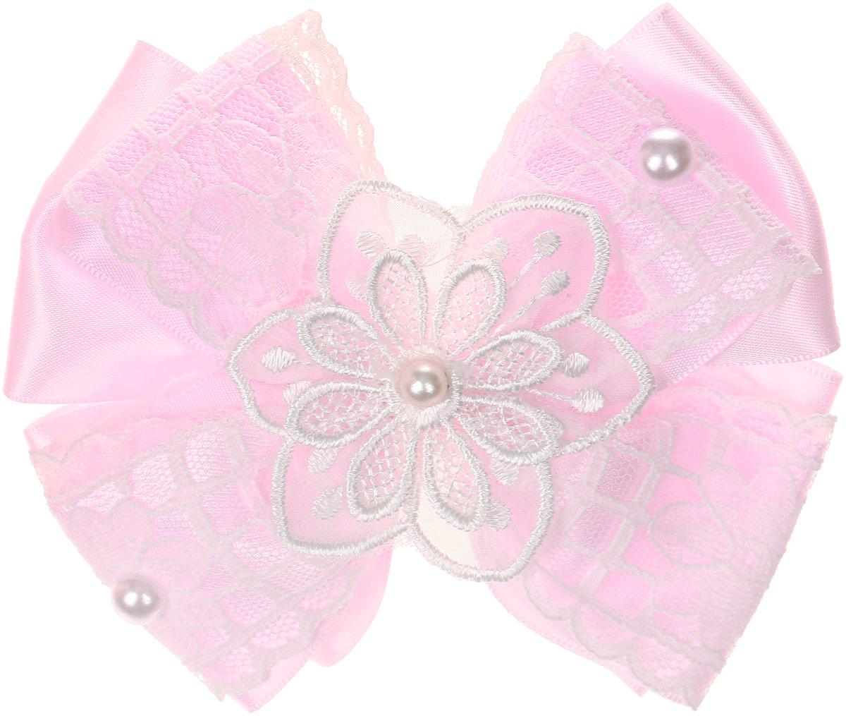Baby's Joy Резинка для волос Бант цвет розовый белый MN 200 baby s joy резинка для волос цвет красный белый розовый 2 шт