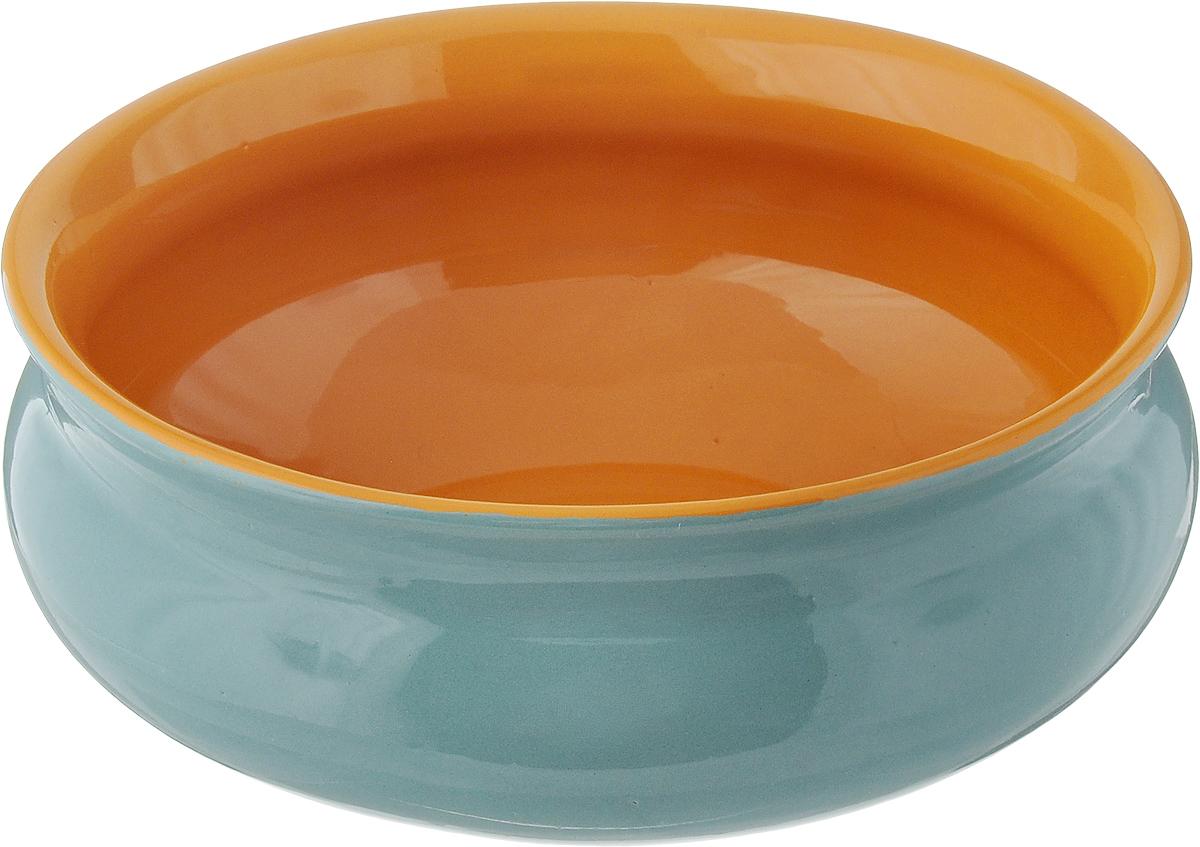 Тарелка глубокая Борисовская керамика Скифская, цвет: бирюзовый, желтый, 800 млРАД14457937_бирюзовый, желтыйГлубокая тарелка Борисовская керамика Скифская выполнена из высококачественной керамики. Изделие сочетает в себе изысканный дизайн с максимальной функциональностью. Она прекрасно впишется в интерьер вашей кухни и станет достойным дополнением к кухонному инвентарю. Тарелка Борисовская керамика Скифская подчеркнет прекрасный вкус хозяйки и станет отличным подарком. Можно использовать в духовке и микроволновой печи.Диаметр тарелки (по верхнему краю): 16 см.Объем: 800 мл.