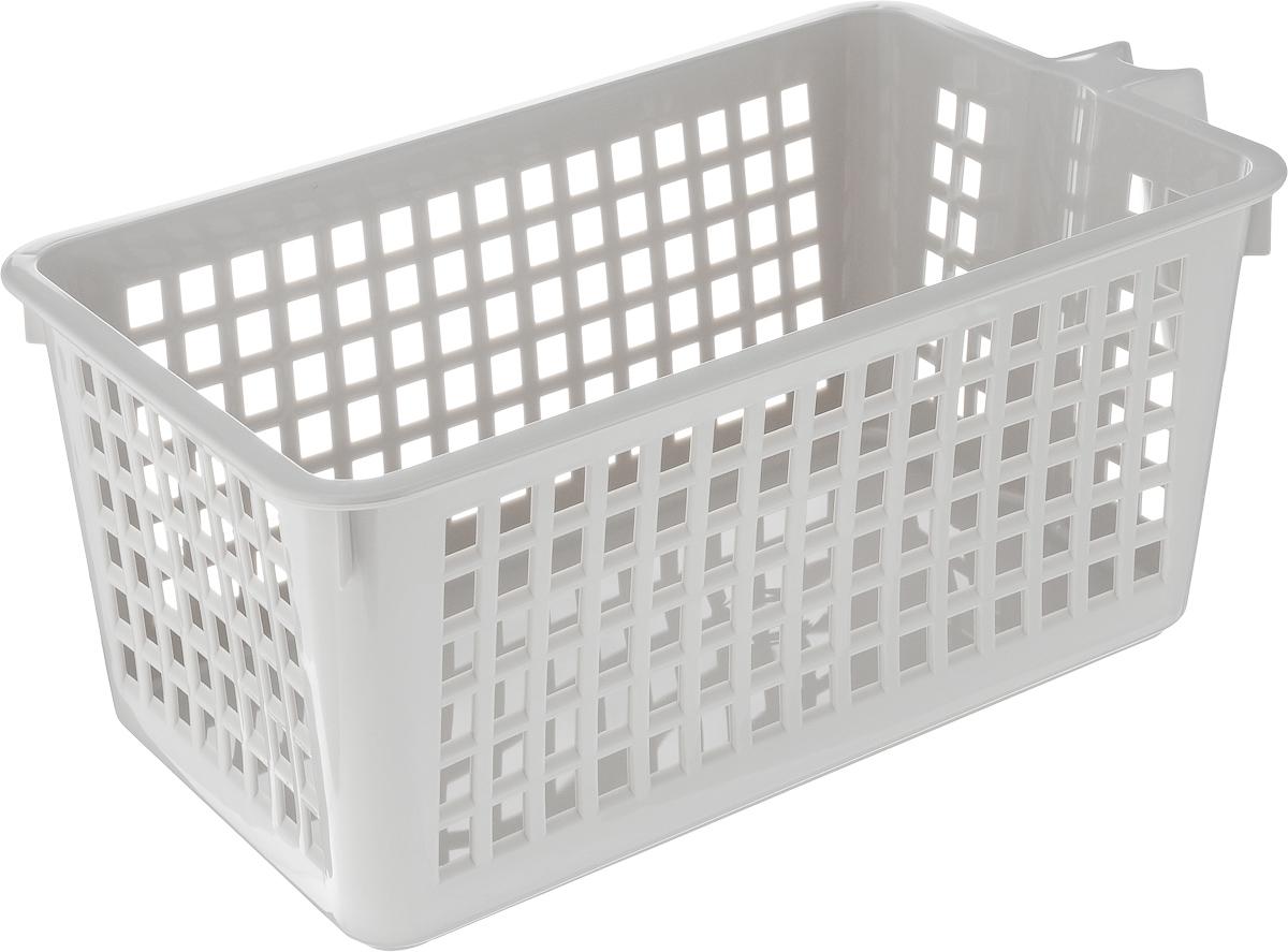 Корзинка универсальная Econova, с ручкой, цвет: серый, 28 х 16 х 12 см847545_серыйУниверсальная корзинка Econova изготовлена из высококачественного пластикаи предназначена для хранения и транспортировки вещей. Корзинка подойдет какдля пищевых продуктов, так и для ванных принадлежностей и различных мелочей.Изделие оснащено ручкой для более удобной транспортировки. Стенки корзинкиоформлены перфорацией, что обеспечивает естественную вентиляцию. Универсальная корзинка Econova позволит вам хранить вещи компактно и судобством.