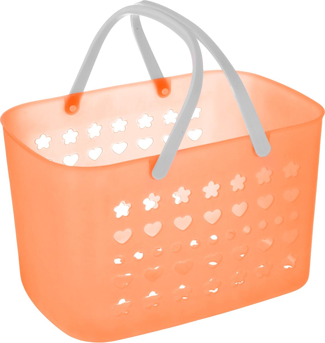 Корзина для мелочей Sima-land, цвет: оранжевый, 27,5 х 17,5 х 17 см, 799929799929_оранжевыйПрямоугольная корзина Sima-land, изготовленная из пластика, предназначена для хранениямелочей в ванной, на кухне, даче или гараже. Корзина оснащенаперфорированными стенками и дном. Для удобства переноски корзины имеются пластиковые ручки.Элегантный выдержанный дизайн позволяет органично вписаться в ваш интерьер и стать егоэлементом. Компактные размеры изделия позволят вам уместить его даже в очень небольшом помещении.