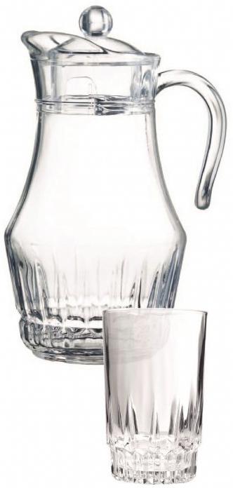 Набор для воды Arcopal Orinet, 7 предметовL4986Набор для воды Arcopal Orinet изготовлен из качественного стекла и предназначен для соков и холодных напитков. В наборе 6 стаканов и кувшин с крышкой и удобной ручкой.С такой посудой сервировка стола превратится в настоящий праздник. Объем стаканов: 270 мл. Объем кувшина: 1,8 л.