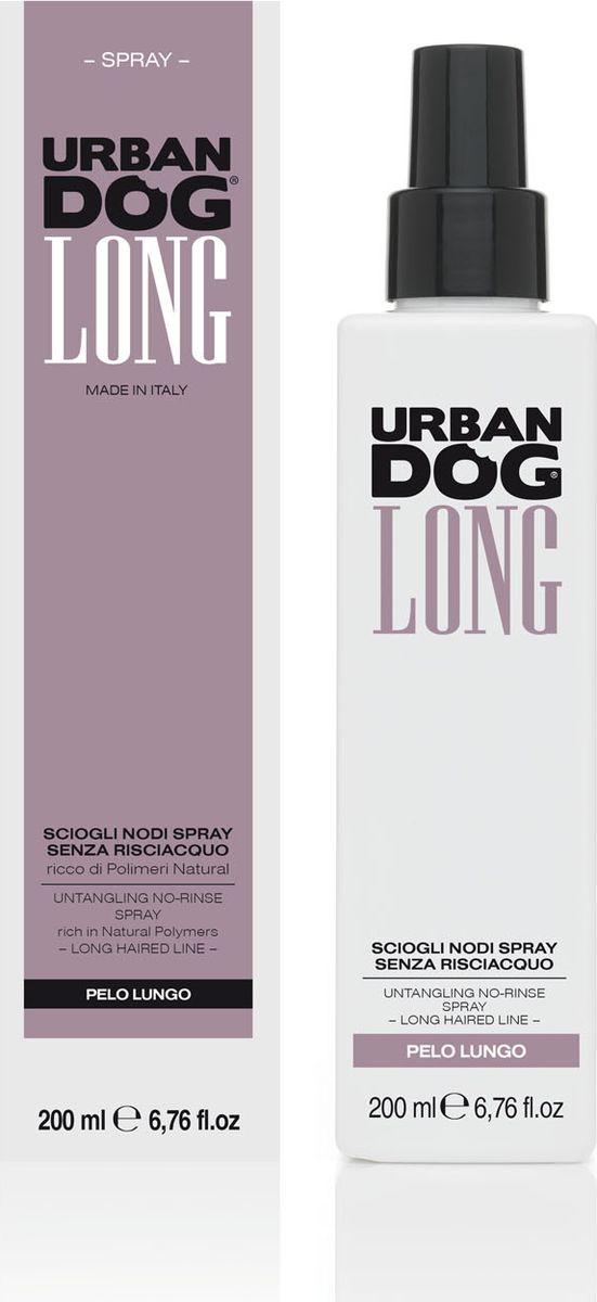 Спрей для собак Urban Dog, для распутывания колтунов, без смывания, с натуральными полимерамиUD3001SS2LИнновационный спрей быстрого воздействия для разглаживания и распутывания, облегчает проход щетки так, чтобы она не выдергивала шерсть. Благодаря входящему в формулу натуральному полимеру защитного действия спрей предохраняет структурную целостность шерсти. Идеально подходит для собак длинношерстных пород.