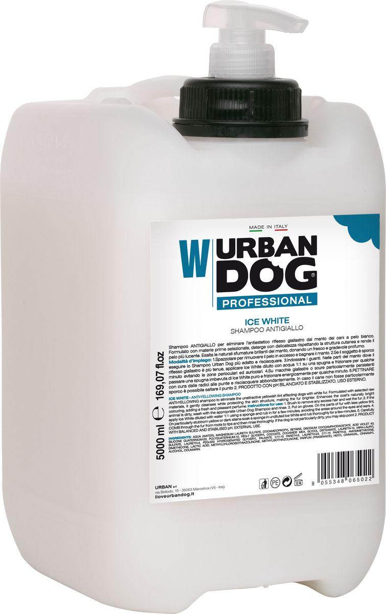 Шампунь для собак Urban Dog Ice White, от пожелтения шерсти, 5 л фурминатор для собак короткошерстных пород furminator short hair large dog