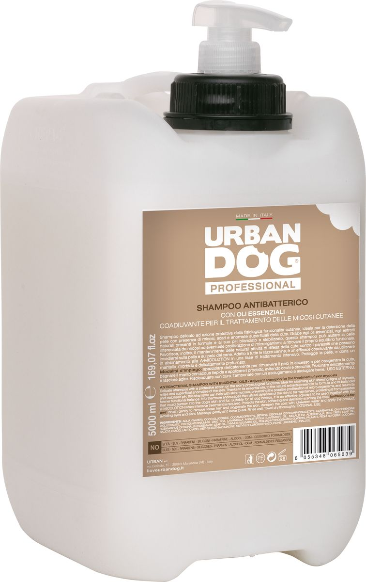 Шампунь для собак Urban Dog, от кожных микозов, 5 л насадка furminator furflex deshedding head l comfort edge large dog all hair против линьки для собак крупных пород с любой длиной шерсти