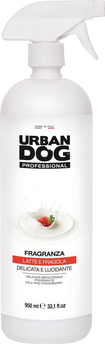 Ароматизатор для собак Urban Dog, с блеском для длинношерстных пород, 950 млUD3006F1LLДЕЛИКАТНЫЙ АРОМАТИЗАТОР С БЛЕСКОМ с ароматом молока и клубники Нежный и дезодорирующий аромат, который не нарушает естественную регуляцию сальных желез и обоняние собаки. Отлично подходит в качестве средства для придания блеска шерсти. Применение: нанести ароматизатор, избегая попадания в глаза и уши. Расчесать и при необходимости просушить.Рекомендации: чтобы продлить ароматизирующий эффект, в последующие после нанесения дни побрызгать шерсть теплой водой и при необходимости высушить.