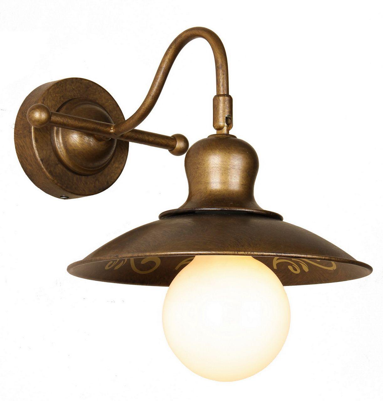 Бра Favourite Magrib, 1 х E27, 60. 1214-1W1214-1WВажным моментом в оформлении любого интерьера является грамотная расстановка световых акцентов. Сфокусировать внимание на деталях оформления комнаты и эффектно их подчеркнуть поможет настенное бра Magrib немецкого бренда Favourite. Данный светильник обладает как прекрасными декоративными качествами, так и отличными эксплуатационными характеристиками. Дизайн изделия оформлен в соответствии с тенденциями классического стиля, особенно полюбившегося дизайнерам интерьеров. Передовые технологии производства и использование прочных материалов обеспечивают надежность и долговечность изделия. При этом основание и плафон изготовлены из металла. Мощность светильника также заслуживает всяческих похвал: при использовании 1 лампочки с цоколем 1хE27 она достигает 60 Вт. Разместив бра над кроватью или столом, вы сможете создать функциональную световую зону площадью 3,3 кв.м. Практичное и стильное бра Favourite Magrib станет отличным дополнением к оформлению гостиной или спальни и придаст выразительности всей интерьерной композиции.