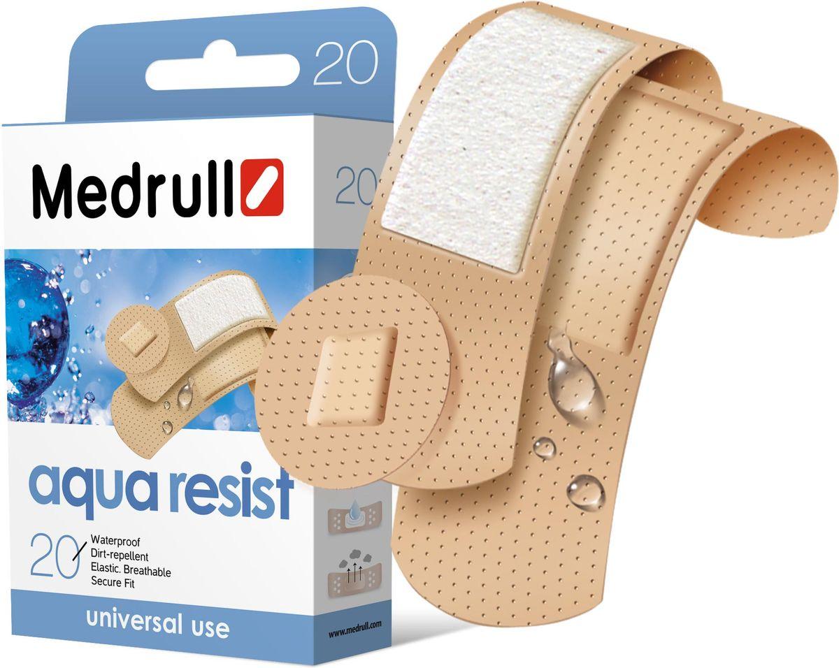 Medrull Набор пластырей Aqua Resist, №204742225003218Универсальные пластыри удобно и легко защитят рану от попадания влаги и грязи. Изготовлены из тонкого, перфорированного, полимерного материала, благодаря перфорации не препятствуют доступу воздуха к коже. Свойства пластыря: водонепроницаемые, грязенепроницаемые, гипоаллергенные, эластичные, дышащие, плотно прилегающие. Абсорбирующая подушечка изготовлена из вискозы и обладает высокой впитываемостью. Верхняя часть подушечки обработана полипропиленом, что защищает от вероятности прилипания пластыря к поврежденной поверхности кожи.