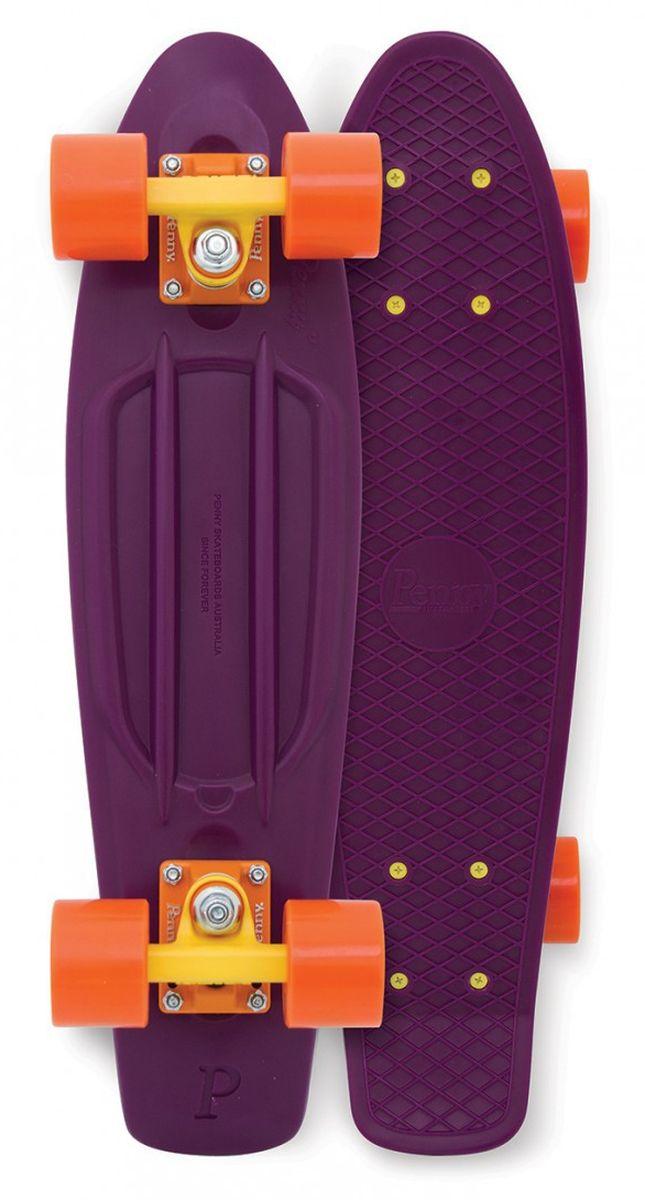 Пенни борд Penny  Original , цвет: баклажановый, оранжевый, дека 57 х 15 см - Скейтборды и пенни борды