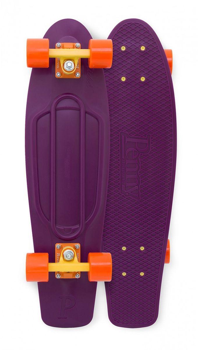 Пенни борд Penny Nickel, цвет: фиолетовый, оранжевый, желтый, дека 69 х 19 см пенни борд фото для девочек