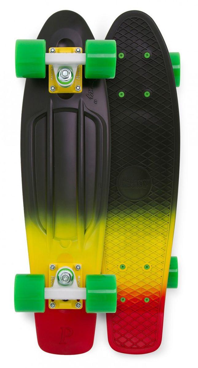 Пенни борд Penny  Original , цвет: черный, желтый, зеленый, дека 57 х 15 см - Скейтборды и пенни борды