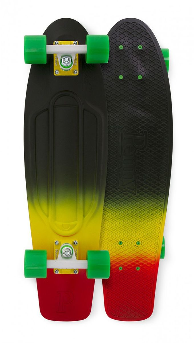 Пенни борд Penny Nickel, цвет: черный, желтый, зеленый, дека 69 х 19 см пенни борд penny nickel цвет slater дека 27
