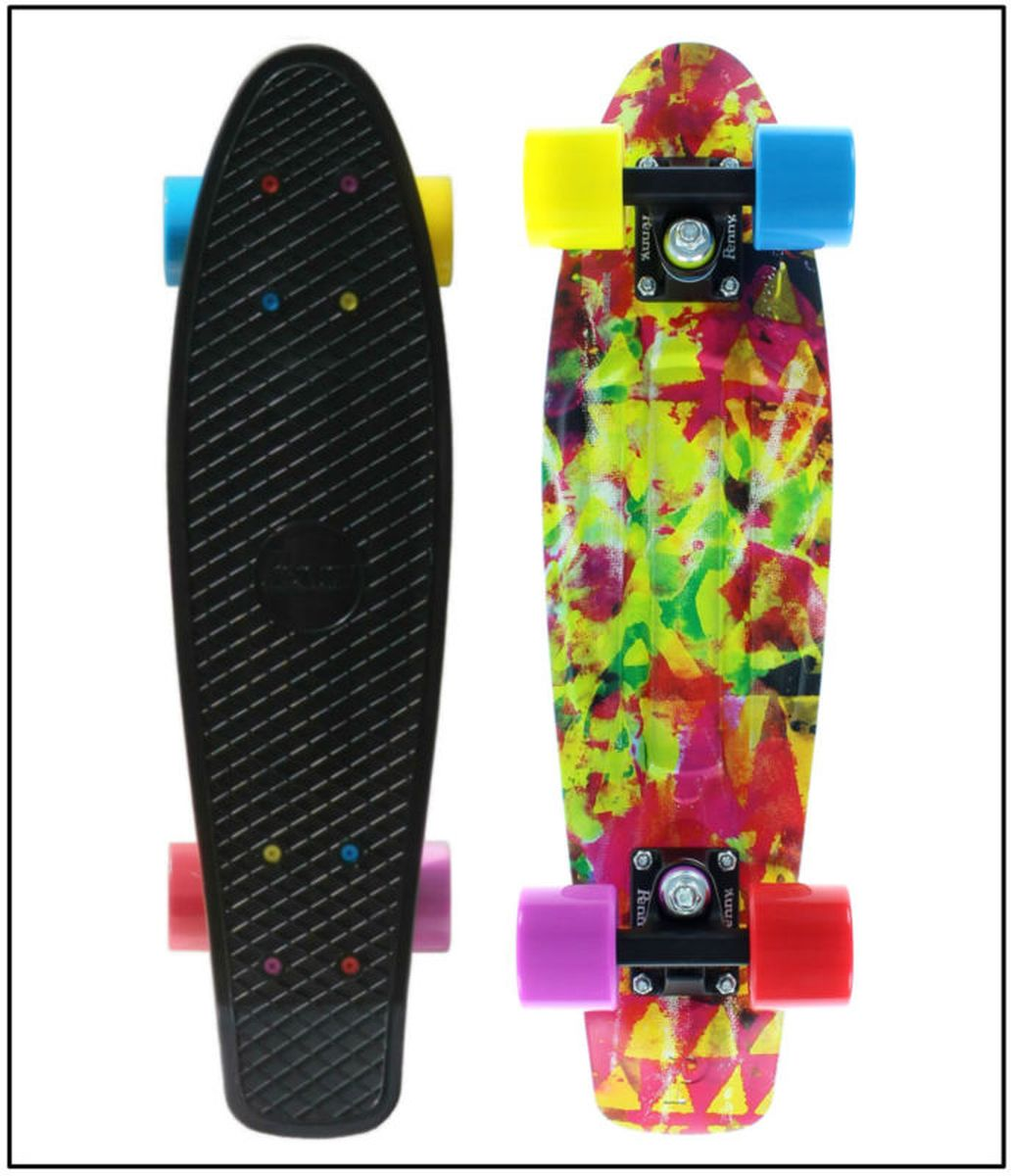 Пенни борд Penny  Original , цвет: черный, голубой, желтый, дека 57 х 15 см - Скейтборды и пенни борды