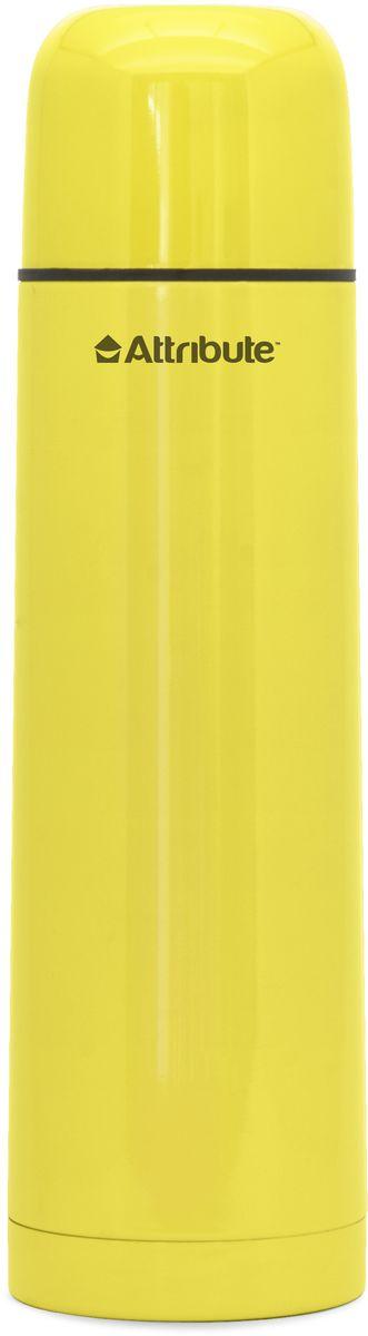 """Термос Attribute """"Color"""" подходит для напитков и настоек травяных отваров. Внутренняя колба и корпус выполнены из высококачественной нержавеющей стали. Корпус покрыт защитным цветным лаком, что создает дополнительную защиту рук при использовании на морозе. Термос сохраняет напиток горячим до 10 часов, а холодным - до 16 часов. Вакуумная теплоизоляция между колбой и корпусом обеспечивает наилучшее сохранение тепла. Герметичная крышка снабжена теплоизоляционным материалом. Пробка со сливным клапаном позволяет наливать содержимое термоса, не откручивая ее. Таким образом, тепло сохраняется дольше. Изделие легкое и прочное, малый вес позволяет брать его с собой на работу и учебу, в поездки и походы. Диаметр горлышка: 4,5 см. Высота термоса: 24,5 см. Диаметр основания: 7 см."""