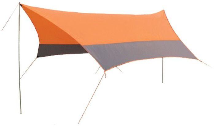 Тент Sol, цвет: оранжевый, 440 х 440 см сетка для бадминтона со стойками torneo nt 100t