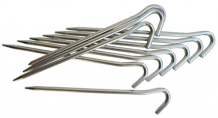 Колышки алюминиевые Tramp, цвет: стальной, 10 штTRA-013Колышки Tramp предназначены для установки палатки. Выполнены из прочного алюминия, благодаря чему имеют малый вес. В комплекте 10 колышков.