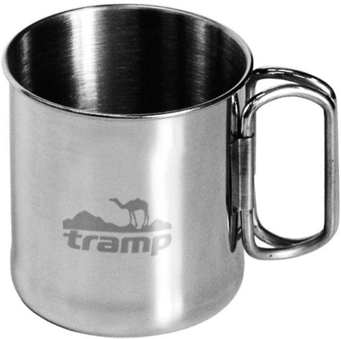 Кружка со складными ручками Tramp, цвет: серый, 0,3 л бутылка алюминиевая в чехле tramp цвет красный черный 1 л trc 032