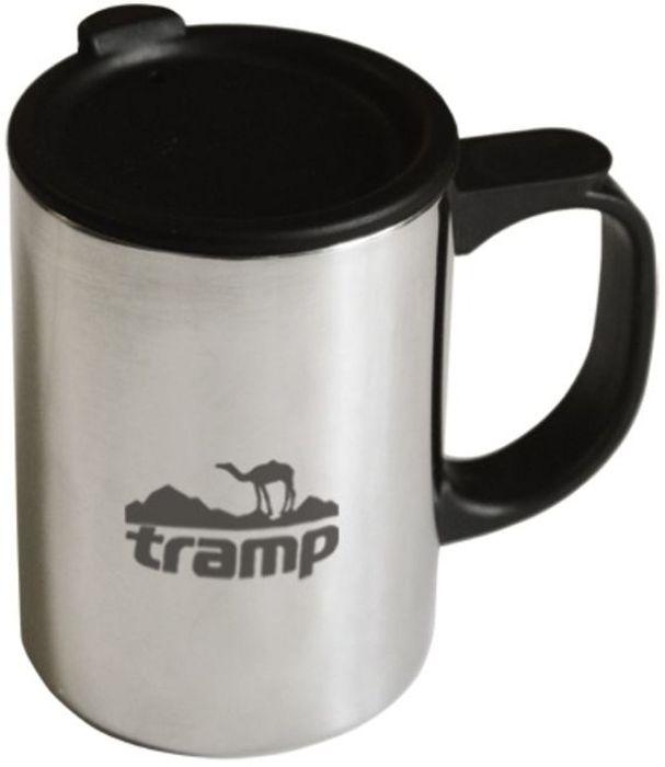 Термокружка Tramp, с поилкой, цвет: серый, 0,4 л. TRC-019 полотенце tramp tra 162 blue