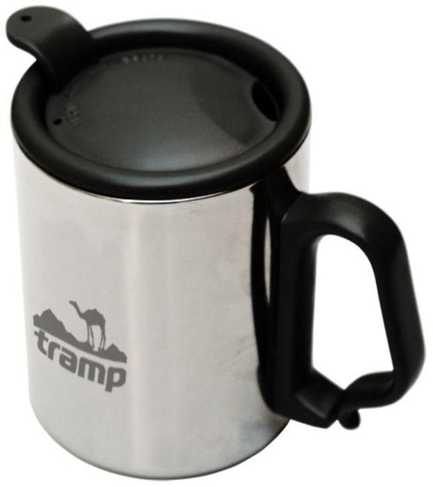 Термокружка Tramp, с поилкой, с защелкой, цвет: серый, 350 мл. TRC-020