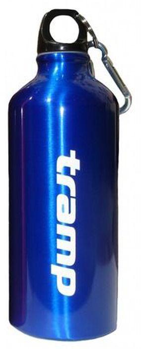 Бутылка алюминиевая Tramp, в чехле, цвет: синий, черный, 600 мл. TRC-033 посуда tramp trc 003 набор столовых приборов