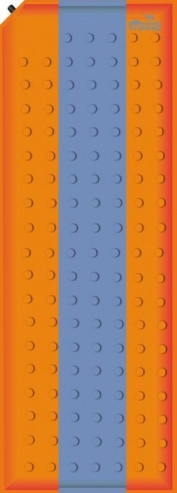 Коврик самонадувающийся Tramp, цвет: оранжевый, синий, 180 х 50 х 2,5 см. TRI-002TRI-002Коврик самонадувающийся Tramp мягкий, комфортный, так же он имеет прекрасную термоизоляцию. На самонадувающимся коврике вы вряд ли прочувствуете неровности земли под палаткой, вам ничего не будет давить в бока во время сна. Самонадувающийся коврик идеально подойдет для кемпингового отдыха, водного похода, дачи или рыбалки, в общем, для любого вида отдыха, где не надо долго нести рюкзак на себе. Так же самонадувающийся коврик может послужить отличным матрасом для гостей или теплой подстилкой для игры ребенка на полу в квартире или доме. Коврик имеет чехол и стягивающие ремни. Внимание! Не используйте насос для надувания коврика. Храните коврик в просушенном виде. Коврик не предназначен для использования на воде или в качестве спасительно средства. Берегите коврик от огня, острых предметов и домашних животных.Размер: 180 х 50 х 2,5 см.Вес: 900 г.Допустимая нагрузка: до 75 кг.