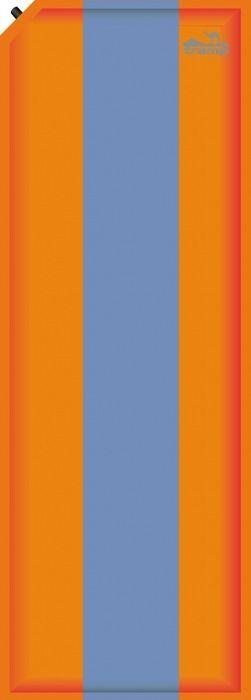 Коврик самонадувающийся Tramp, цвет: оранжевый, синий, 190 х 60 х 5 см. TRI-006TRI-006Самонадувающийся толстый коврик Tramp подходит для туризма, кемпинга, отдыхов на природе. В отличие от обычного туристического коврика самонадувающийся коврик более мягкий, комфортный, так же он имеет лучшую термоизоляцию. На самонадувающимся коврике вы вряд ли прочувствуете неровности земли под палаткой, вам ничего не будет давить в бока во время сна. Но за такой комфорт придется поплатиться весом и объемом, который занимает коврик. Поэтому самонадувающийся коврик идеально подойдет для кемпингового отдыха, водного похода, дачи или рыбалки, в общем для любого вида отдыха где не надо долго нести рюкзак на себе. Так же самонадувающийся коврик может послужить отличным матрасом для гостей или теплой подстилкой для игры ребенка на полу в квартире или доме. Коврик прост в использовании, стоит просто открутить клапан и подождать секунд 30, коврик надуется сам. Не пытайтесь надуть коврик насосом, ртом или еще как-нибудь, подобные действия приведут к порче вашего коврика-самонадувайки. Так же на нем не стоит лежать возле костра или на острых камнях, при повреждении верхней ткани коврика, он будет плохо надуваться или вообще перестанет работать. Если вы любите вечером сидеть у костра, то возьмите с собой еще и обычный туристический коврик, он дешево стоит и после маленькой катастрофы его все равно можно использовать по назначению. Самонадувающийся коврик оставьте в палатке, пусть он вам обеспечивает комфортный и крепкий сон.Применение. Распакуйте и снимите стягивающие ремни с коврика. Разложите его и откройте клапан. Дождитесь пока коврик надуется, после чего закройте клапан. При первом использовании, возможно, потребуется поддуть коврик через клапан надува. После использования откройте клапан надува и сдуйте коврик вручную. Затем затяните коврик ремнями и сложите в мешок.Так как коврик имеет большие размеры, то первый раз ему нужно помочь надуться. Разложите коврик, дайте ему время набрать 