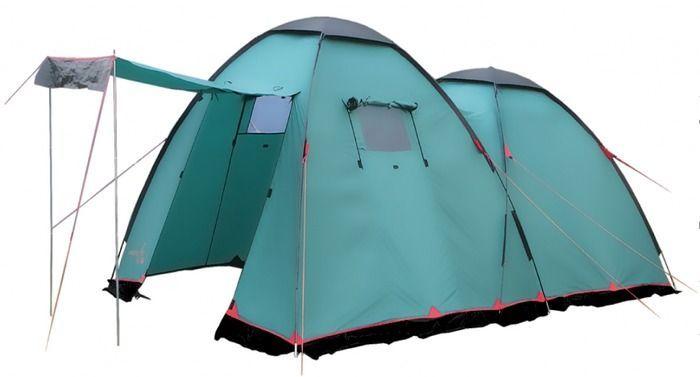 Палатка кемпинговая Tramp Sphinx 4, цвет: зеленыйTRT-068.04Палатка Tramp Sphinx рассчитан на семейный отдых и отдых большой компанией. Двухслойная кемпинговая палатка оснащена двумя входами и большим тамбуром. Внешний тент палатки устойчив к ультрафиолетовому излучению и имеет пропитку, задерживающую распространение огня. Входы всех спальных отделений продублированы москитной сеткой. Во внешнем тенте вход в тамбур также продублирован москитной сеткой. Тент оборудован юбкой. Палатка имеет два больших вентиляционных окна. Все швы проклеены. Съемный пол выполнен из терпаулинга.Размер спального места: 240 х 240 см.Размер тамбура: 255 x 200 см.