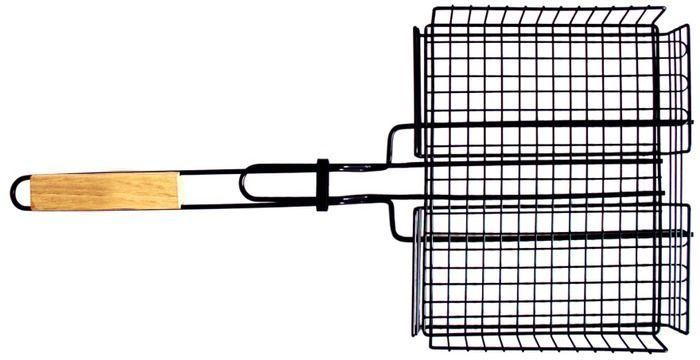 Решетка-гриль Тотеm, цвет: черный, 30 х 24 х 4 смTTB-005Решетка-гриль Тотеm выполнена из стали и предназначена для запекания мяса, птицы, рыбы или овощей. Тефлоновое покрытие не даст продуктам пригореть и позволит избежать неудобств при приготовлении пищи. Удобные деревянные ручки не нагреваются. Специальная конструкция позволяет задействовать максимальную площадь поверхности решетки для приготовления пищи. Глубокая форма решетки не позволяет упасть ни одному кусочку приготовляемой пищи.Размер: 30 х 24 х 4 см. Длина: 62 см