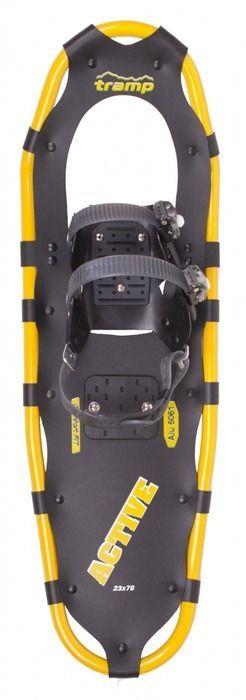 Снегоступы Tramp Active, цвет: черный, желтый. TRA-002. Размер M бутылка алюминиевая в чехле tramp цвет красный черный 1 л trc 032