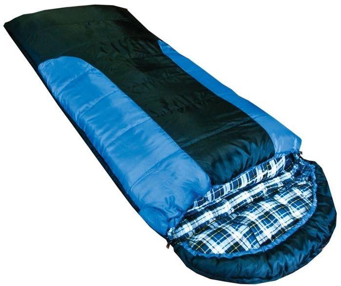 Спальный мешок Tramp Balaton L, цвет: индиго, черный, левосторонняя молния