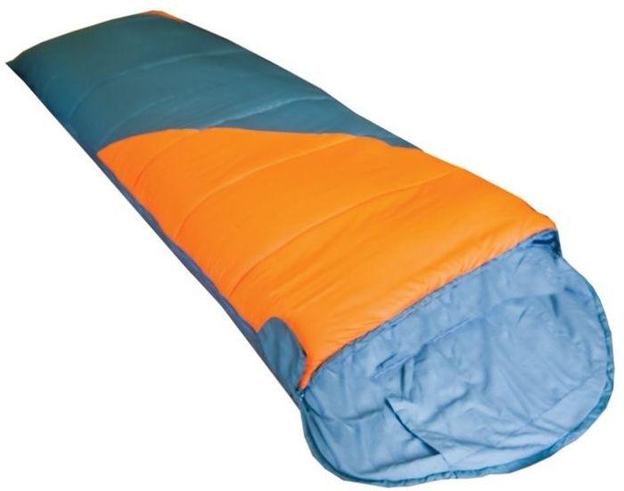 Спальный мешок Tramp Fluff L, цвет: оранжевый, серый, левосторонняя молния