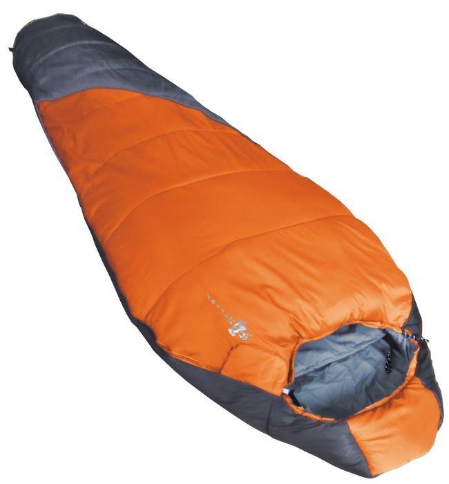 Спальный мешок Tramp Mersey L, цвет: оранжевый, серый, левосторонняя молния