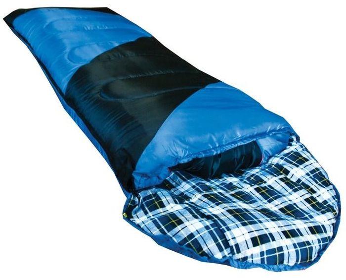 Спальный мешок Tramp Nightlife L, цвет: индиго, черный, левосторонняя молния