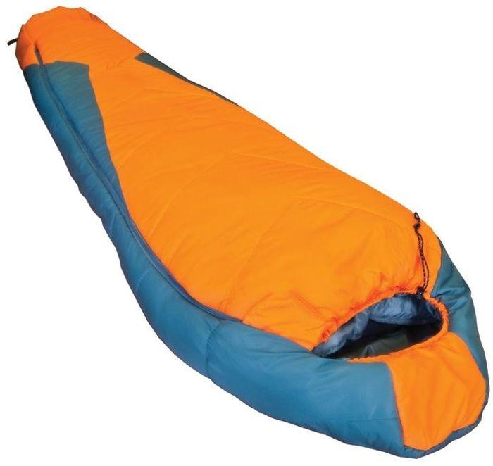 Спальный мешок Tramp Oimyakon L, цвет: оранжевый, серый, левосторонняя молния