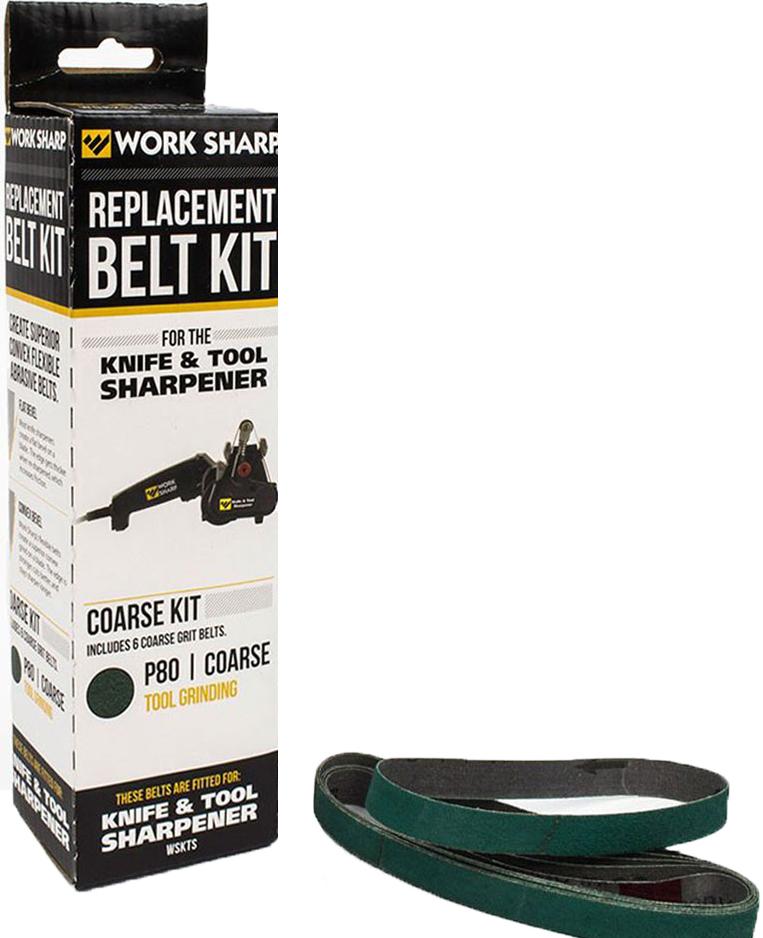 Набор ремней абразивных сменных Work Sharp Coarse P80, с крупной зернистостью, для электроточилки для ножей WSKTS, 6 шт
