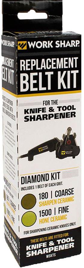 Набор ремней абразивных Work Sharp Micromesh MXD LT, с зернистостью 180 и 1500, для керамических ножей
