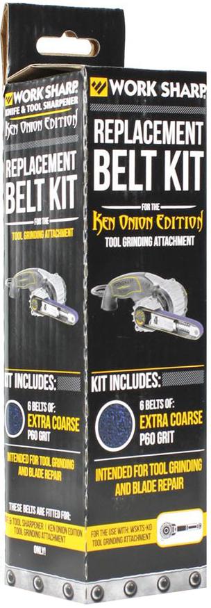 Ремень абразивный сменный Work Sharp Coarse Grit, с насадкой, для электроточилки Work Sharp Knife & Tool Sharpener Ken Onion Edition