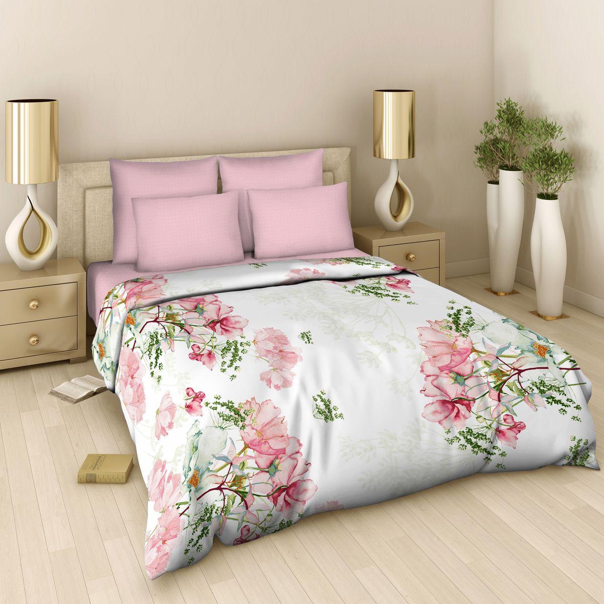 Комплект белья Василиса, 1,5-спальный, наволочки 70х70, цвет: розовый. 339/1,5 комплекты белья rhs комплект белья