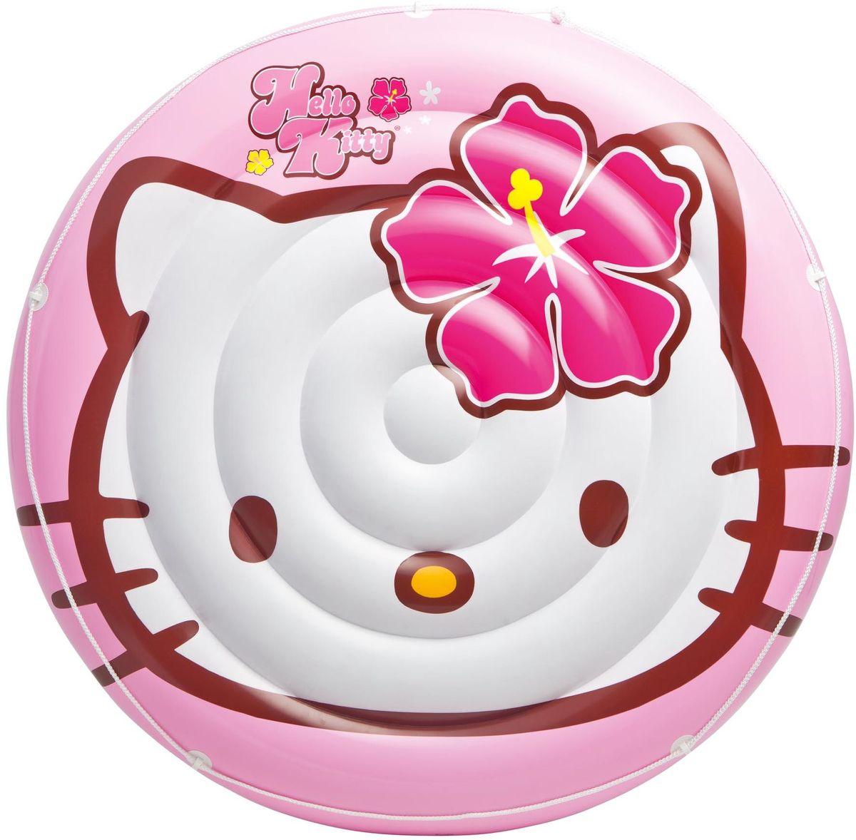 Надувной островок Intex Hello Kitty, 137 см. с13с13надувной островок Hello Kitty 137см