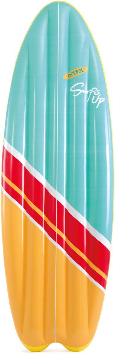 Надувной матрас Intex Серфер, цвет: желтый, красный, голубой, 178 х 69 см. с58152 лодка intex challenger k1 68305