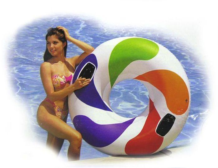 Надувной круг Intex Вихрь, 122 см, от 12 лет. с58202 круг надувной swimtrainer classic от 3 месяцев до 4 лет цвет красный 10110