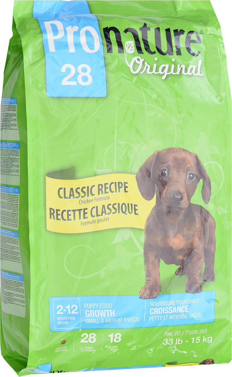 Корм сухой Pronature Original 28, для щенков мелких и средних пород, цыпленок, 15 кг102.568