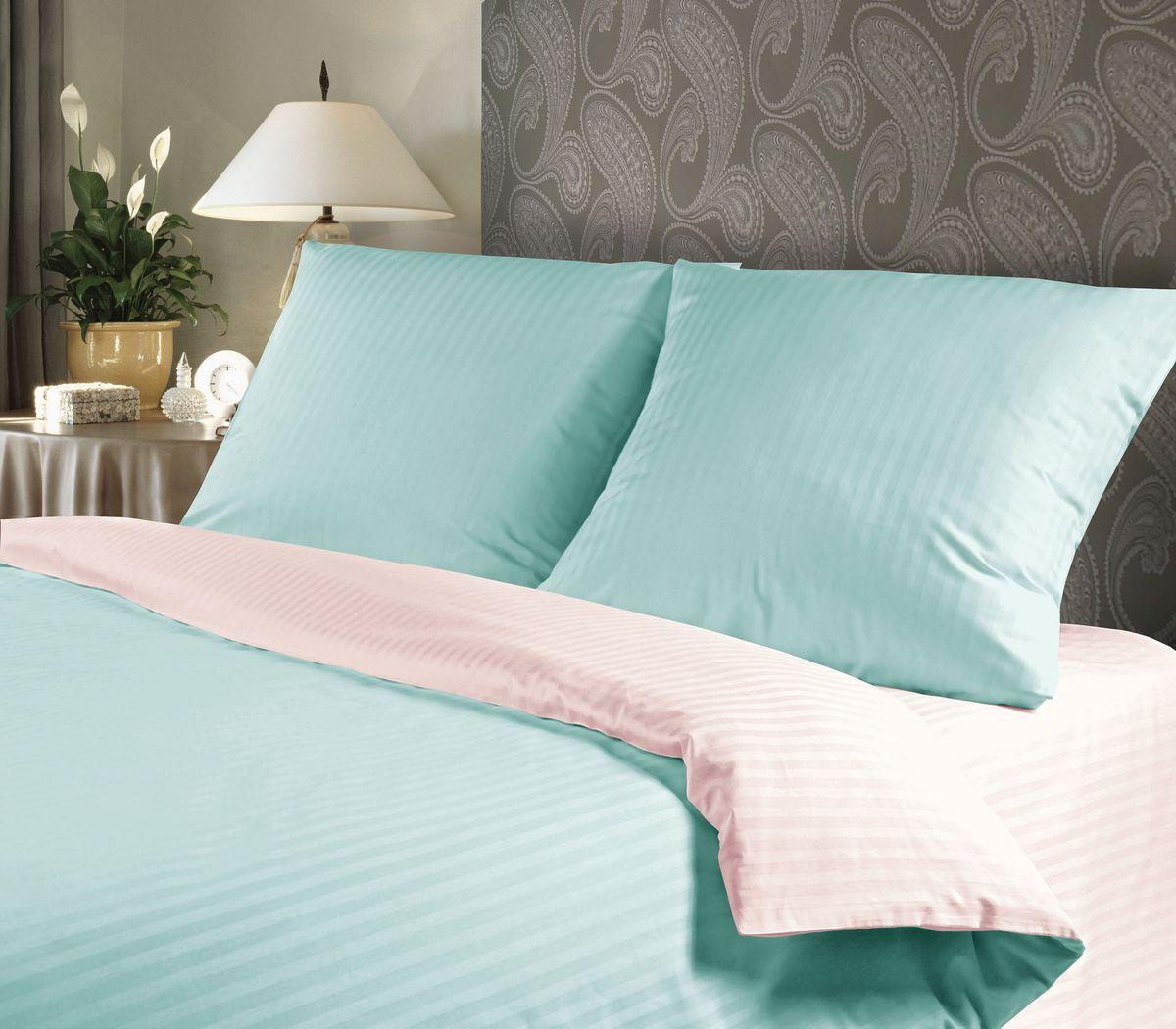 Комплект белья Verossa Sunset, 2-спальный, наволочки 50х70711217Комплект постельного белья включает в себя четыре предмета: простыню, пододеяльник и две наволочки, выполненные из страйп-сатина.Страйп-сатин - одна из разновидностей жаккардового сатина. Это ткань, плетение которой представляет собой чередующиеся полосы, отсюда и название материала: в переводе с английского stripe и есть полоска. Размер пододеяльника: 180 x 215 см.Размер простыни: 220 x 240 см.Размер наволочек: 50 x 70 см.