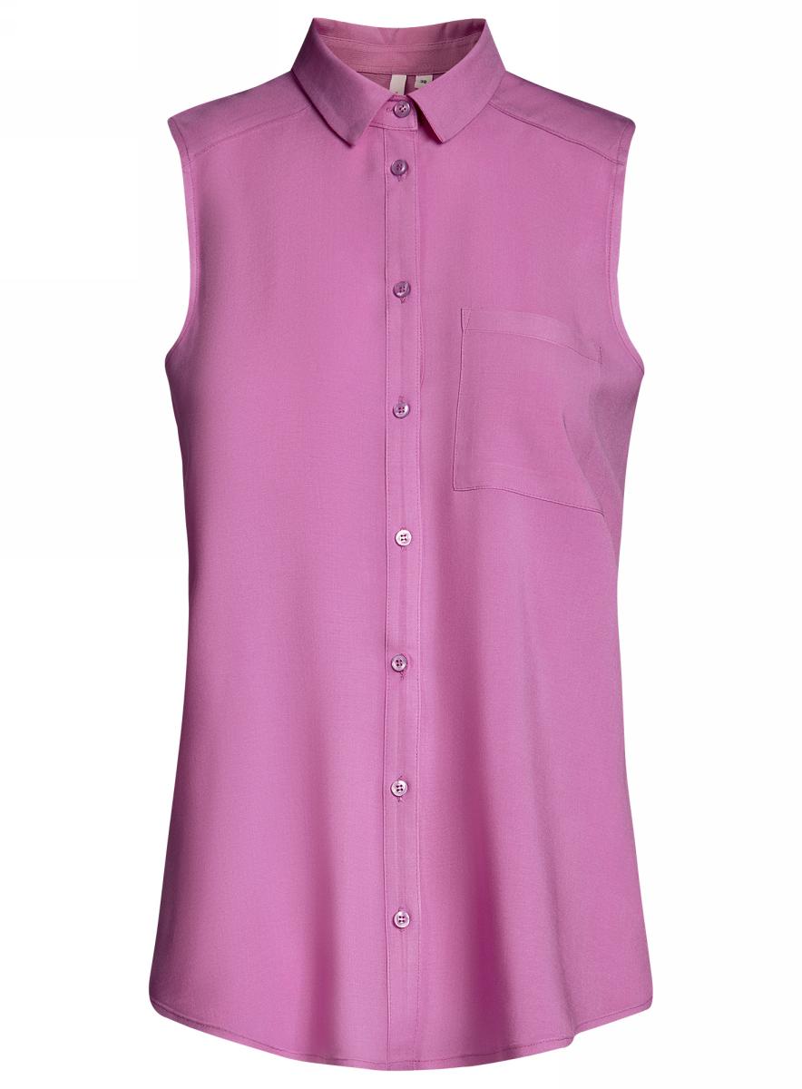 Блузка женская oodji Ultra, цвет: ягодный. 11411108B/26346/4C00N. Размер 40-170 (46-170) oodji 11411123 26346 7975d