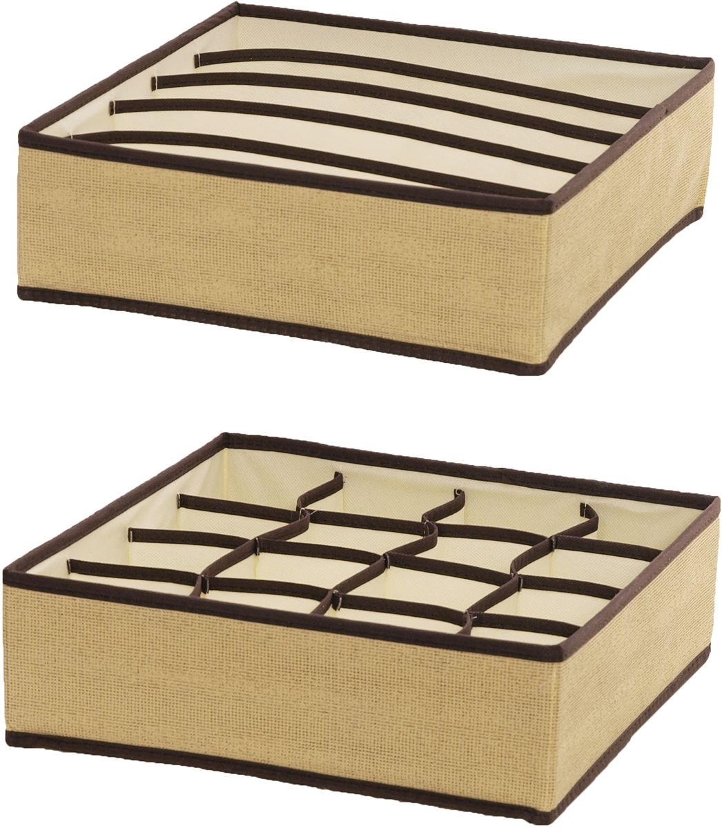 Набор органайзеров HomeMaster, 32 х 32 х 10 см, 2 штSTI003Набор из двух органайзеров HomeMaster предназначен для хранения аксессуаров и нижнего белья. Он обеспечит бережное хранение вещей и позволит организовать внутреннее пространство вашего дома. Теперь вы быстро найдете необходимую вещь. Органайзер можно расположить, как на полке, так и в выдвижном ящике вашего шкафа.