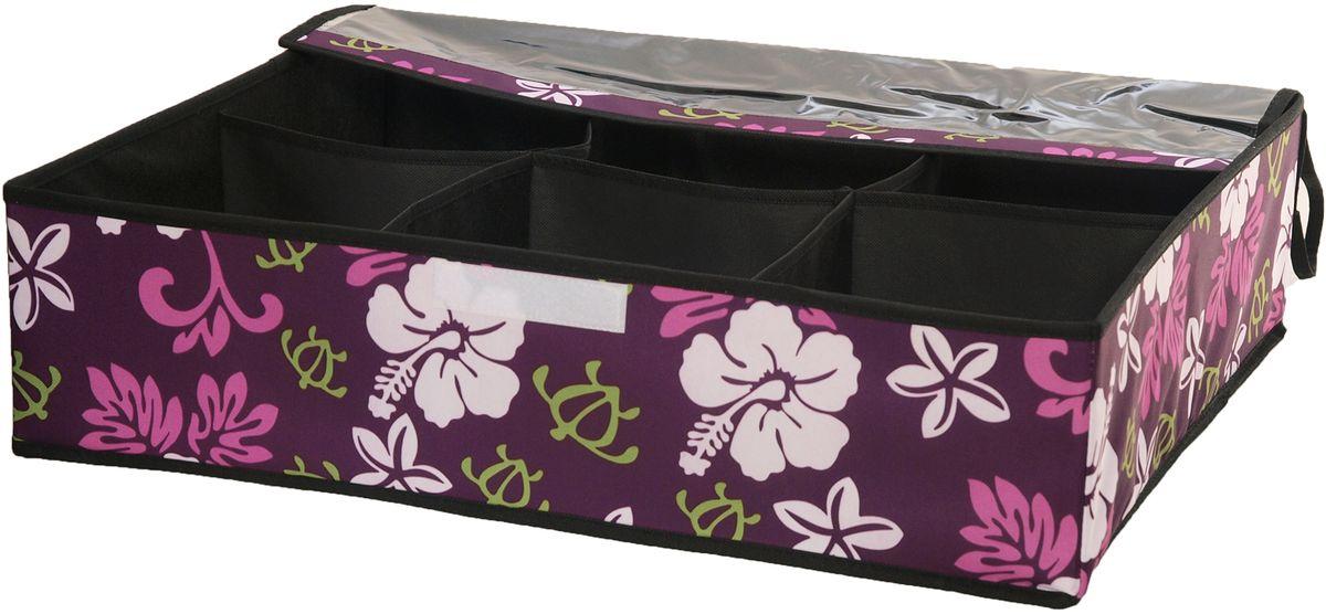 Кофр для хранения обуви HomeMaster, цвет: фиолетовый, 60 х 50 х 15 смSTI014Кофр HomeMaster предназначен для хранения обуви. Он обеспечит бережное хранение и позволит организовать внутреннее пространство вашего дома. Вы всегда, быстро найдете нужную пару обуви благодаря прозрачной поверхности.